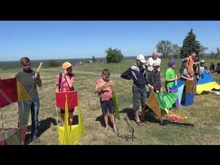 В Изюме провели соревнования воздушных змеев на Кремянце