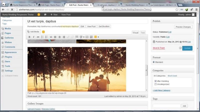 Nunta Wedding Responsive WordPress Theme