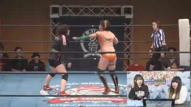 Akane Fujita vs. Matsuya Uno (Ice Ribbon - Ryogoku KFC Ribbon 2018)