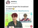 BTS I`ll never forget this broadcast accident