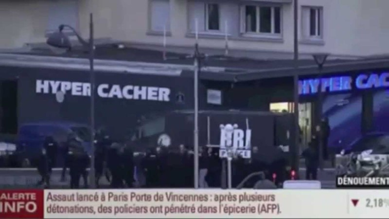 French Special Forces Raid on Hostage Takers in Cacher Supermarket Paris