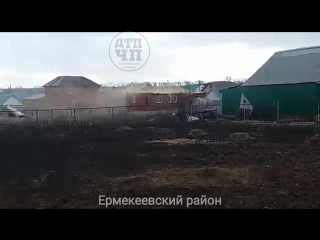 Последствия сильного ветра в Башкирии,