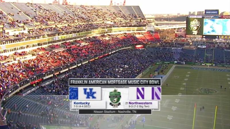 NCAAF 2017 Music City Bowl Kentucky Wildcats 21 Northwestern Wildcats 2H 29 12 2017 EN