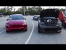 Jeep SRT TrackHawk vs Tesla Model X P100D Ludicrous