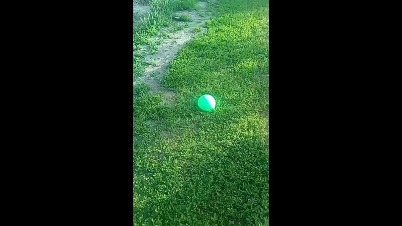 Лопаем шарик с водой.