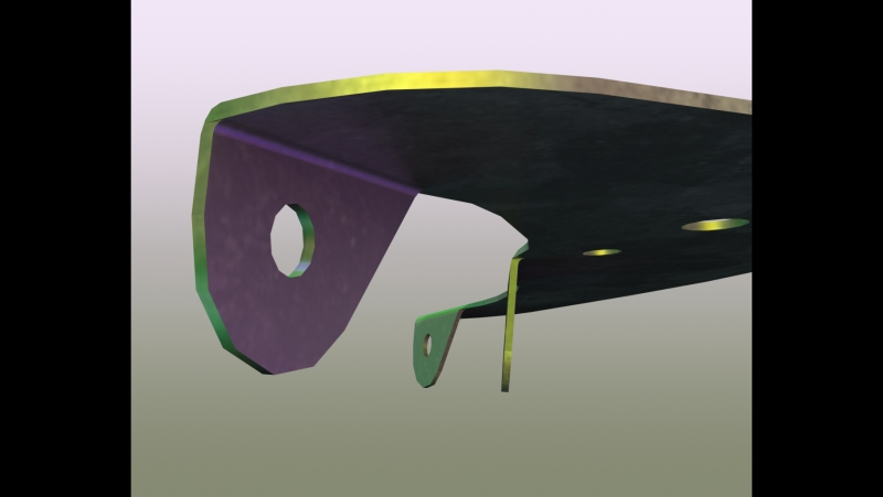 Creating a Wheel Blade Bracket in SolidWorks 5