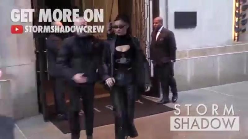 Белла покидает отель «Four Seasons» и прибывает в отель «The Bowery», Нью-Йорк (07.02.18)