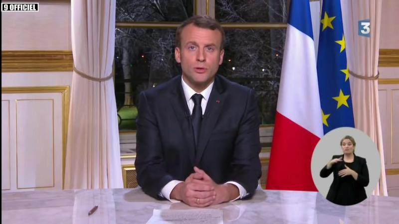 Vœux 2018 dEmmanuel Macron ⁄ 31 décembre 2017