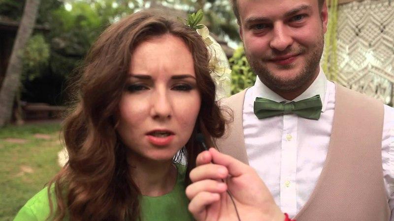 интервью свадебного дня на банкете