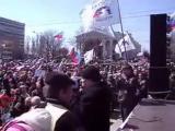 Когда Донбасс сказал свое слово - он его держит. Всегда. То, что было сказано весной 2014-го - в силе. Луганск. Март 2014. Высту