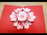 3Д открытка своими руками цветы на 8 мар