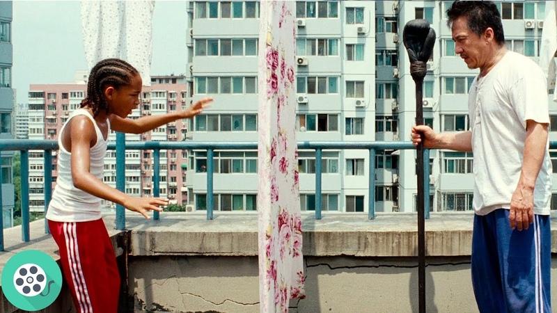Мистер Хан тренирует Дрю Паркера Каратэ пацан 2010 год