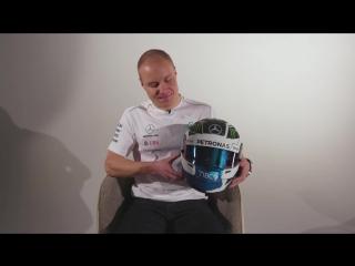 First look! valtteri's 2018 f1 helmet unmasked