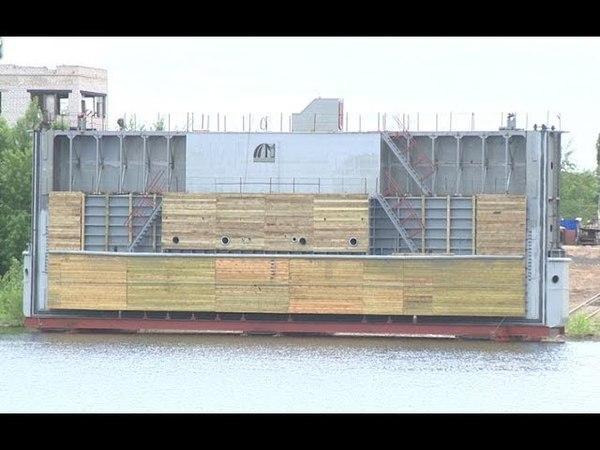В Волгоградской области впервые спущен на воду батопорт
