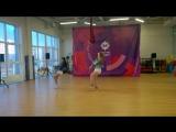 Дэнсхолл на Дне танца в «Магис Спорт»! Анжелика Солодуха и Анастасия Бурчик.
