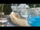 Cascada, piscina, jacuzzi