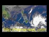 Typhoon SANBA can cause rains since February 15, 2018 in Sanya, Hainan Island, China