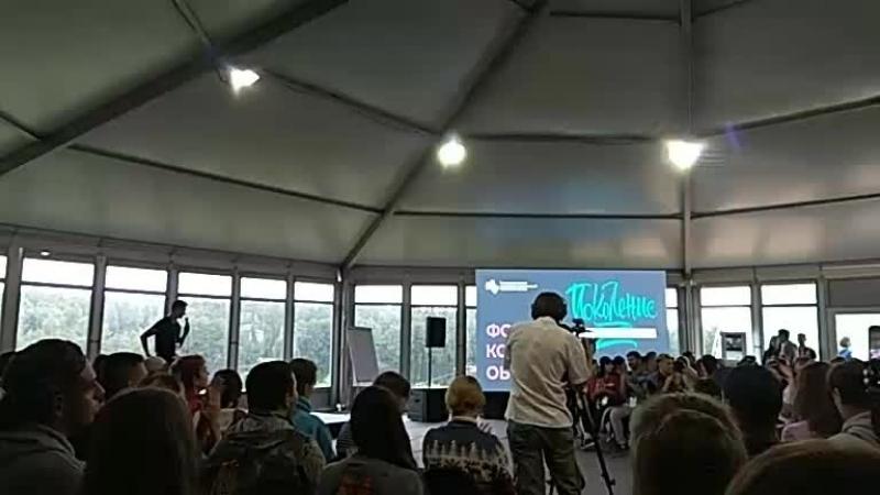 ЯГП2018 VIP-встреча в шатре Lifestyle.  Егор Кончаловский - российский киноактёр, кинорежиссёр