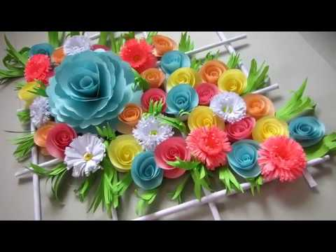DIY Simple Home Decor Wall Decoration Door Hanging Flower Paper Craft Ideas