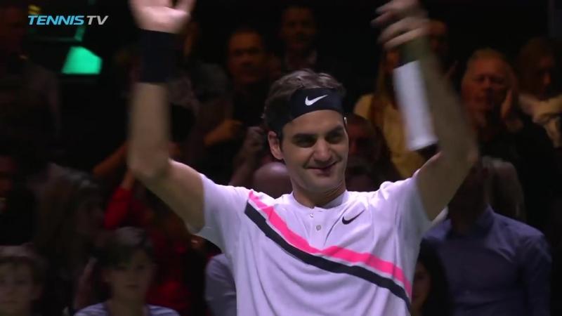 Теннис. ATP. Роттердам. Хард Федерер Роджер -Сеппи Андреас 20 (63, 76)