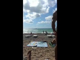 Любимовка, пляж
