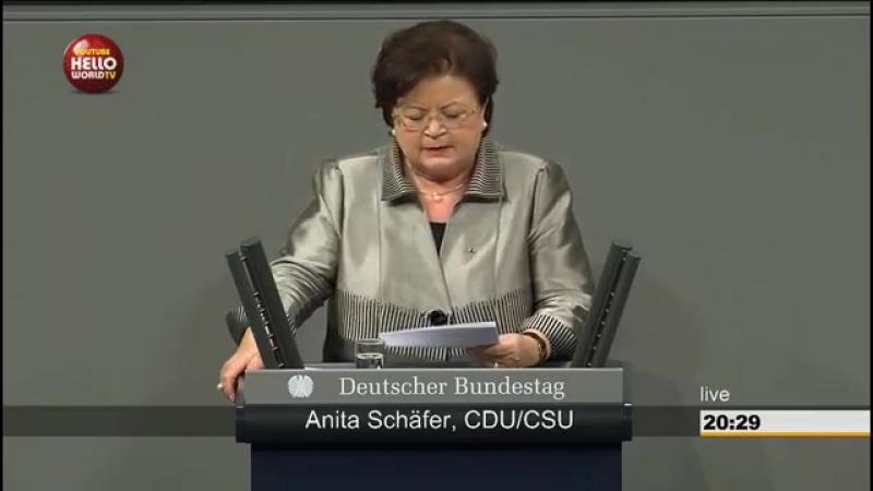 Anita Schäfer -CDU-- -Findet gut- wenn sich Mädchen in Männer aus anderen Kulturkreisen verlieben-