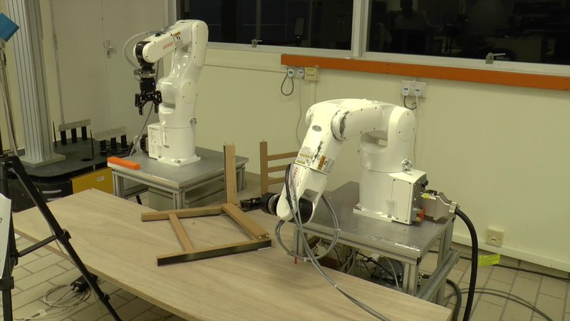 IKEA Chair Assembly Puts Robot Dexterity to the Test (Blooper Reel)