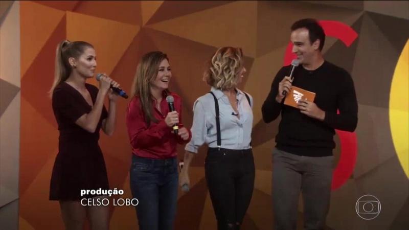Адриана, Джованна Антонелли и Дебора Секку на передаче Fantastico (выпуск от 13.05.2018 года)