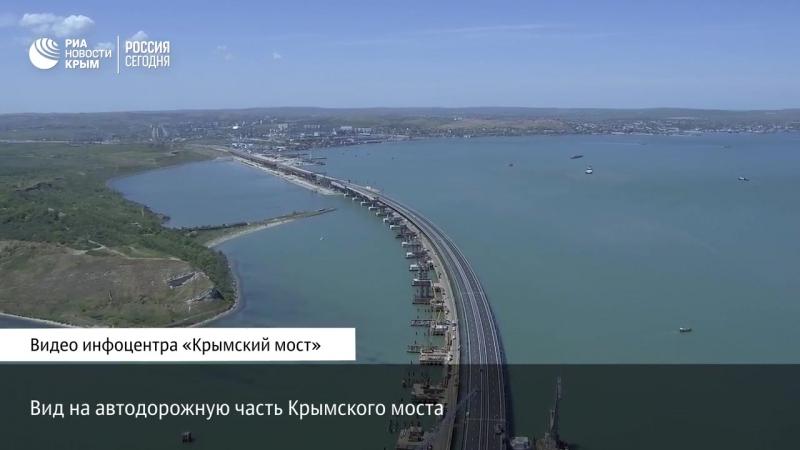 Вид на автодорожную часть Крымского моста