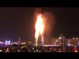 На Сахалине пошумели и спалили дотла 25-метровую елку