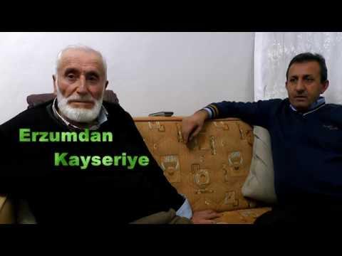 Erzurumdan Kayseriye, göç etmek zorunda kalanlar.