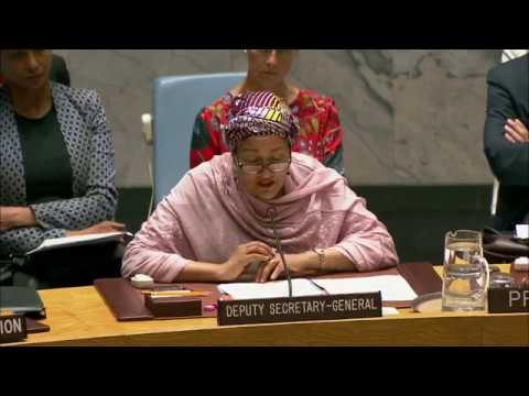 Первый заместитель Генсека ООН Амина Мохаммед об изменении климата и безопасноти.