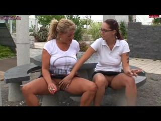 German mother and daughter smoking lesbians