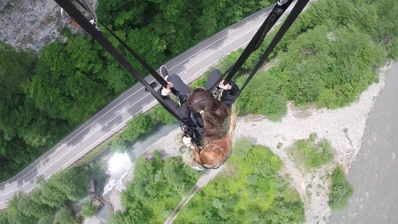 Скайпарк Качели спиной вниз 170 м