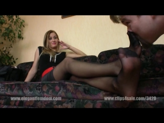 Worship black pantyhose feet Mistress Demona
