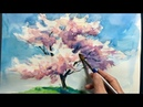 [ Eng sub ] Watercolor Tree Painting easy tutorial 4 Cherry blossom 水彩画の基本 〜桜の樹木を描くコツ