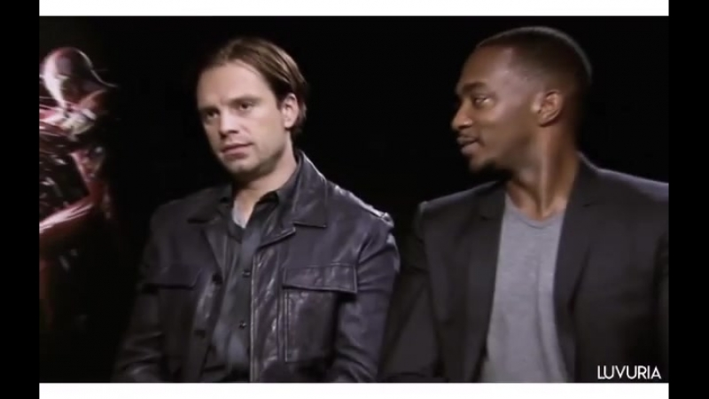 Anthony Mackie and Sebastian Stan vine