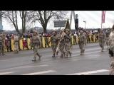 Рига. 18 ноября, 2017. Военный парад. Пешие колонны.