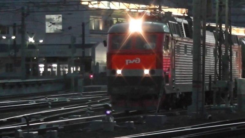 Электровоз ЧС7-013 с фирменным поездом Приосколье № 057В Москва - Старый Оскол