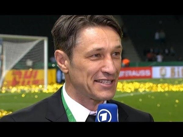 Niko Kovac im Interview nach Pokalsieg gegen Bayern! Bayern vs Frankfurt 1:3