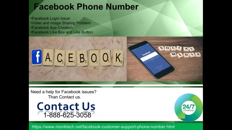 Dial our Facebook Phone Number 1-888-625-3058 give a positive opportunity to help you better