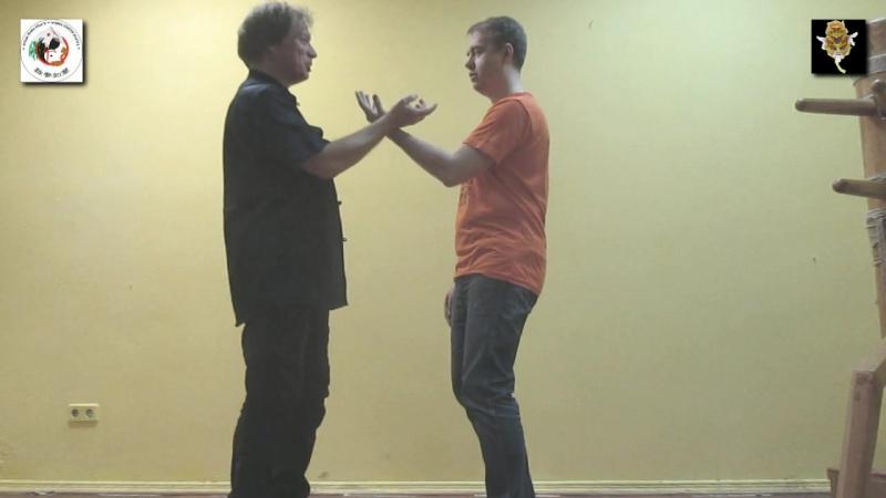 WING CHUN OPEN HANDS DAI SIFU SERGEI SHELESTOV MISTER ANTON BUROV OPEN HANDS FEELINGS TRAINING 31.1 DRAGON BUTTERFLY CLUB OS