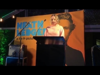 Abbie Cornish introduces HeathLedger A Life in Pictures on behalf of the Ledger family.