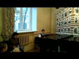 Классный концерт перед Новым годом. 23 декабря 2017. Лева, 4 класс музыкальной школы. Каприччо, композитор Гаврилин.
