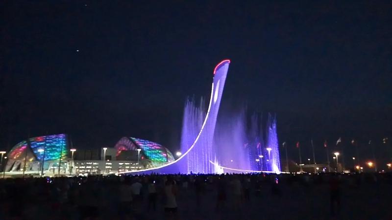 Олемпийский парк. Музыкальный фонтан.