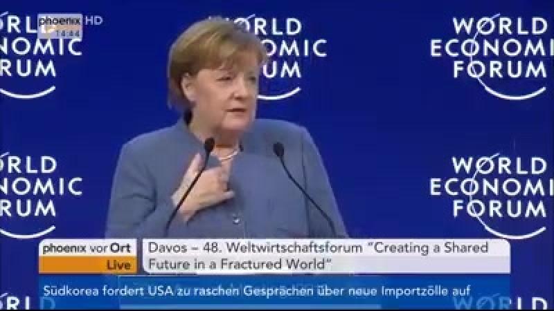 Merkel in Davos Europäer sind an allem schuld