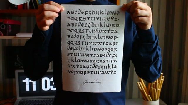 Tea. Practice. Calligraphy.