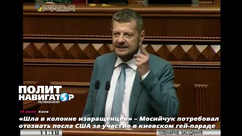 «Шла в колонне извращенцев» – Мосийчук потребовал отозвать посла США за участие в киевском гей парад