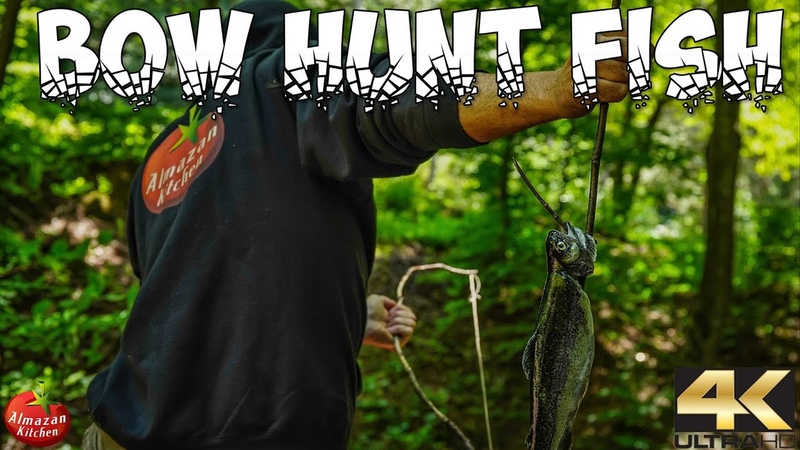 PRIMITIVE PIT SMOKED FISH HUNT WITH A BOW