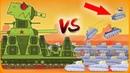 1 Гигант Монстр VS 1000 маленьких клонов танков worldoftanks wot танки — [wot-vod]
